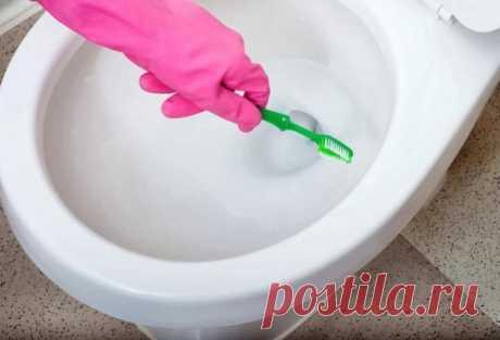 Копеечный способ, который позволит почистить унитаз от известнякового налета