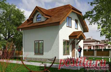 Rg5542 - Одноэтажный дом с мансардой и террасой