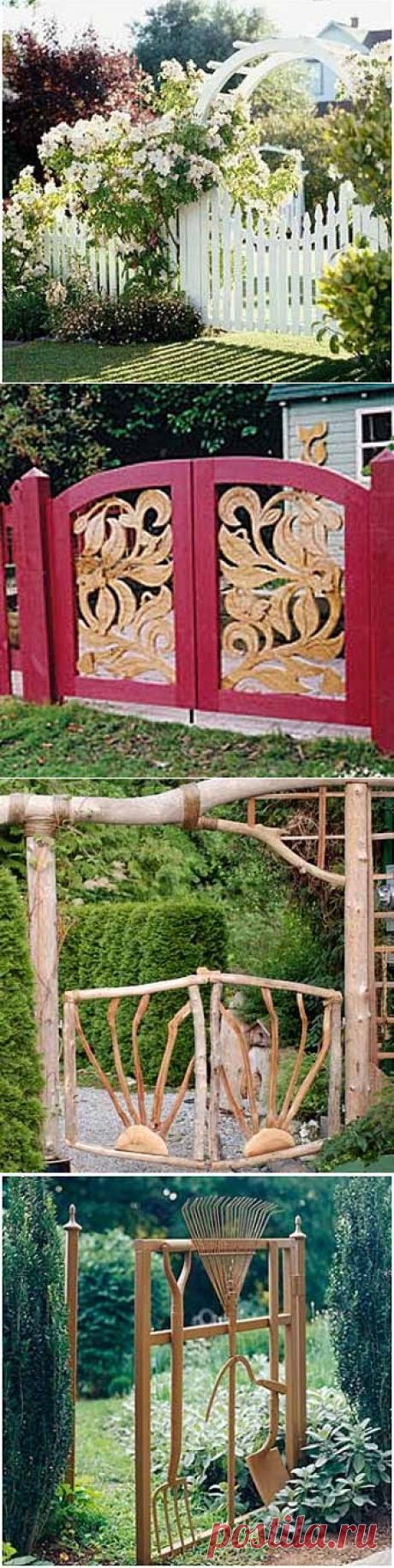 Идеи дизайна для дачи: красивые садовые калитки