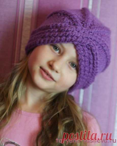 KNITTED TURBAN (Knitting by spokes) | Inspiration of the Needlewoman Magazine