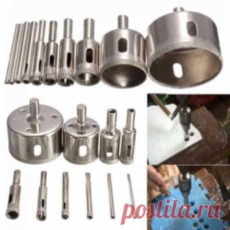 10Pcs 3mm~50mm Diamond Tool Drill Bit Hole Saw Set Glass Ceramic Marble Tile Kit | eBay