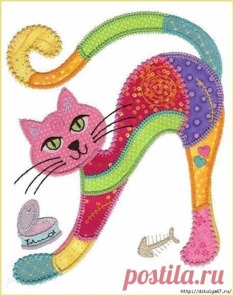 Аппликация кот из ткани - Мамина страница - Интересы, творчество, хобби - 3D