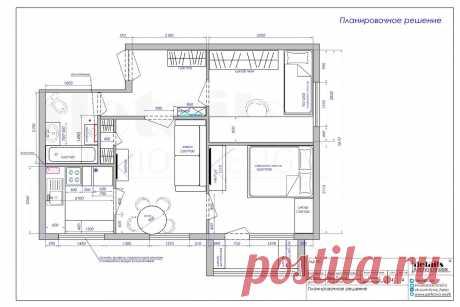 Дизайн маленькой комнаты с рабочим кабинетом в хрущевке