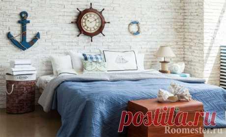 Морской стиль в интерьере - примеры дизайна и декора +55 фото Морской стиль в гостиной, детской, спальни, кухни и ванной. Особенности и черты интерьера. Подбираем под дизайн мебель, декор и освещение.