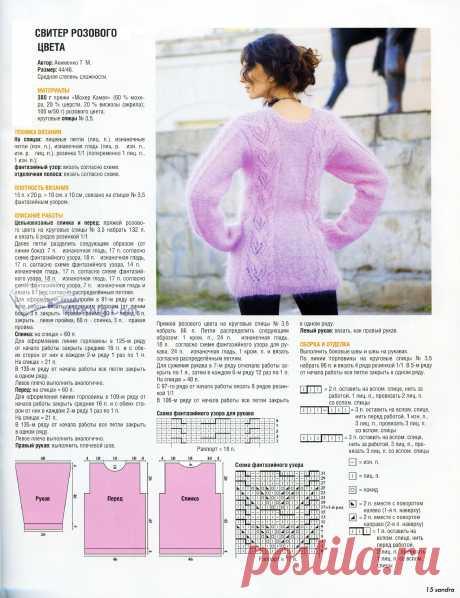 Вязаные свитера спицами женские схемы, описание и видео