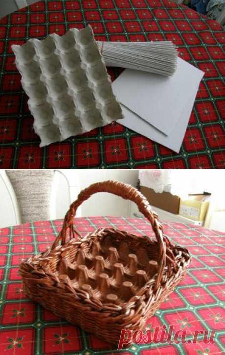 Корзинка-лоток для пасхальных яиц | Хитрости Жизни
