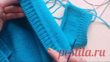 Knitting of a level for a cardigan, a jacket and so forth (a false kettlevka)