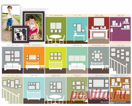 Как развешивать фотографии на стенах домов