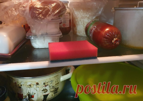 Дешевая хоз. губка, а столько пользы. Кладу губку в холодильник и бед не знаю. Рассказала опытная китайская домохозяйка   Пишет Надя Поднебесная   Яндекс Дзен