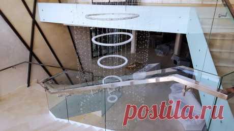 Лестницы, ограждения, перила из стекла, дерева, металла Маршаг – Ограждение атриума из стекла