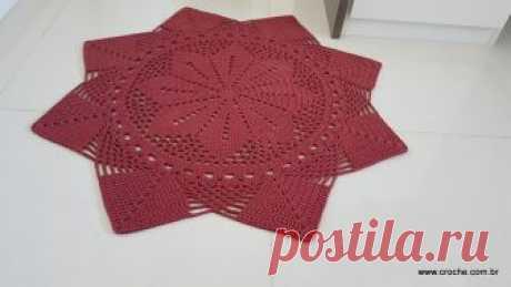 Tapete estrela simples – Passo a passo parte 2 | Croche.com.br