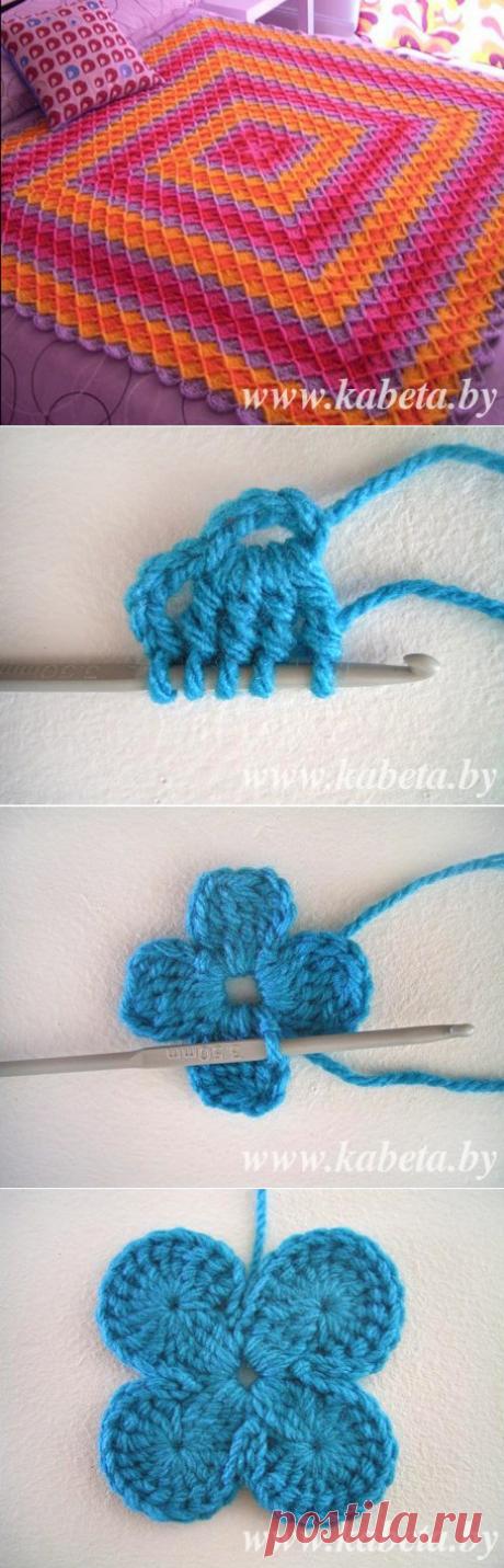 Вяжем плед баварской вязкой | вязать плед крючком | Kabeta.by