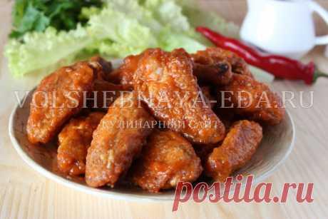 Крылышки «Баффало» - рецепт приготовления с пошаговыми фото | Волшебная Eда.ру