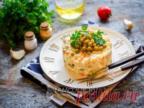 Диетический «Оливье» — рецепт с фото Диетический салат «Оливье» без майонеза разнообразит ваш рацион и утолит чувство голода в мгновение ока.