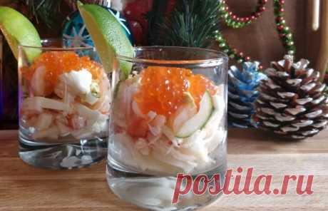 Новогодний салат-коктейль - пошаговый рецепт с фото на Повар.ру