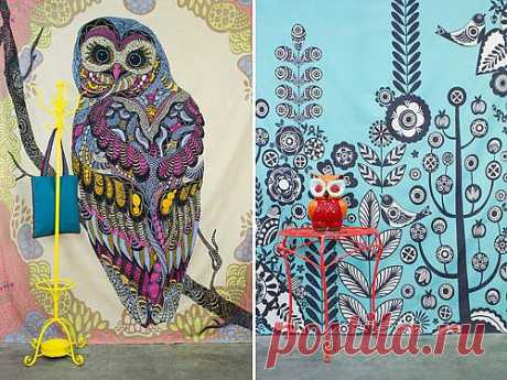 My Owl Barn: Tapestries by Earth Bound