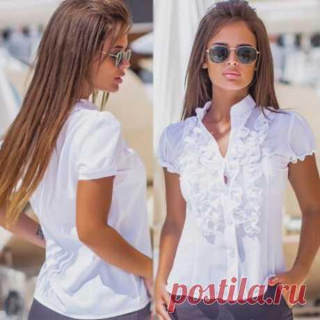 Белая блузка | красивые летние блузка на сайте. Скидка от суммы всем. Доставка.