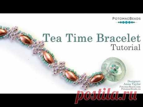 Tea Time Bracelet - DIY Jewelry Making Tutorial by PotomacBeads