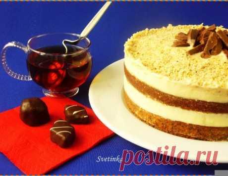 Маково-ореховый торт со сгущенкой – кулинарный рецепт
