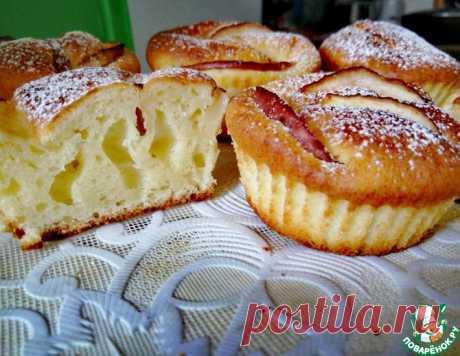 Нежные творожные кексы с яблоками – кулинарный рецепт