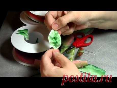How to make French ribbonwork leaves