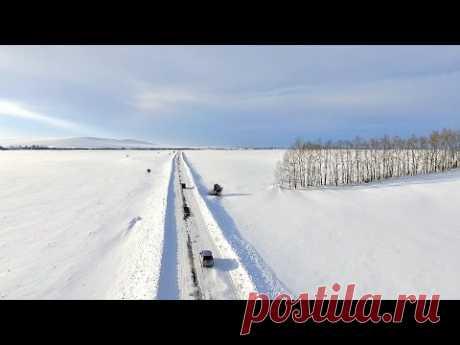 Зимние дороги на Алтае - YouTube
