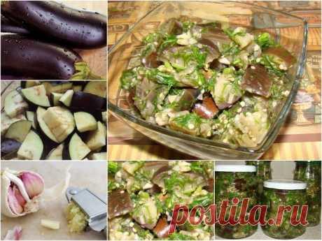 """Баклажаны """"Как грибы"""" Приготовленные по этому рецепту баклажаны, получаются очень вкусные и похожими на грибы.  Ингредиенты: - 2 кг баклажанов (лучше брать глянцевые, не побитые и свежие), - 1 головка чеснока, - 1,5 литра воды, - 150 мл яблочного 9% уксуса (рекомендую использовать яблочный), - 1 ст. ложка соли + 2 ст. ложки соли для замачивания баклажан. - 1 ст. ложка сахара, - зелень укропа. - специи для маринада (душистый горошек, лавровый лист, или те, которые любите бо..."""
