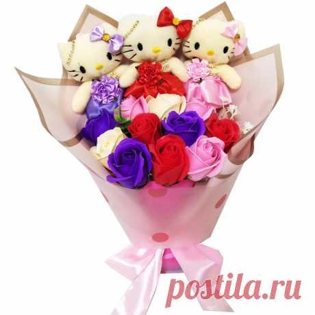 BOLAFYNIA плюшевые игрушки мыло цветок букет мягкие куклы плюшевые букеты на День святого Валентина День рождения рождественские подарки
