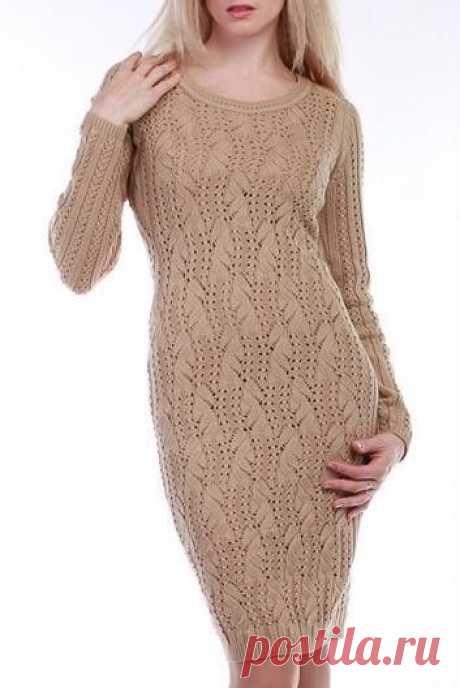 Стильное платье, связанное спицами из категории Интересные идеи – Вязаные идеи, идеи для вязания