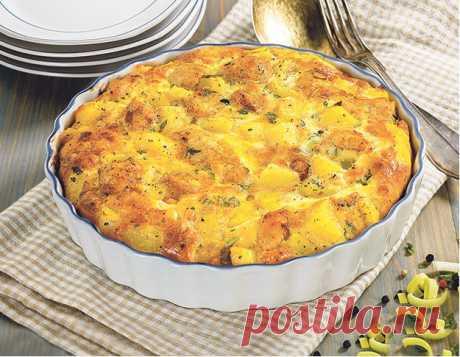 Картофельный пирог с курицей – рецепты - Рецепты