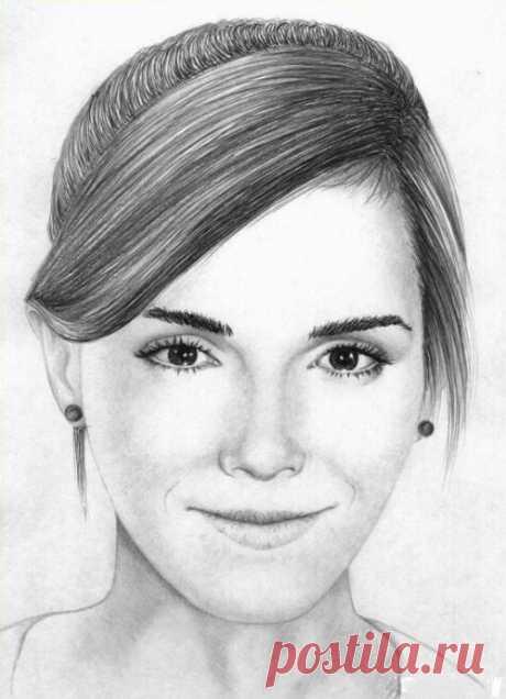 Рисуем портрет девушки простым карандашом