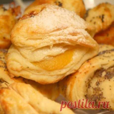 Дрожжевое творожно-слоеное тесто и выпечка из него - МирТесен