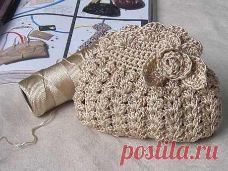 Çiçek Motifli Örgü Çanta Yapımı - Harika Hobi Sitesi