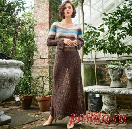 Вязание - модели и схемы: Платье из мохера