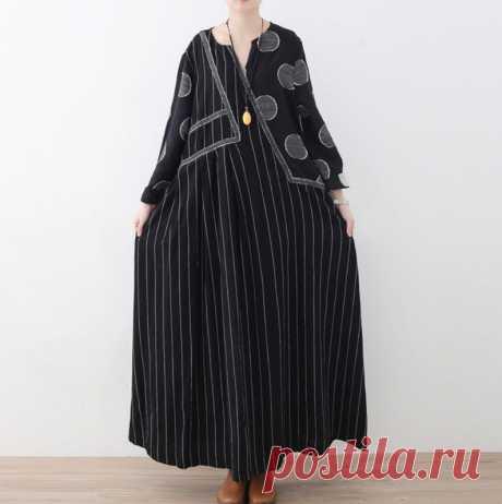 Women's Dresses Long linen dress Prom dresses black | Etsy