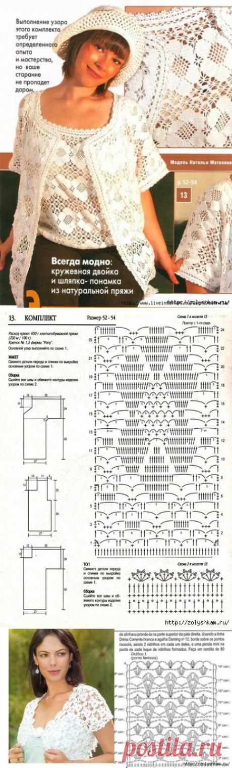 Вязание красивые узоры (крючок)