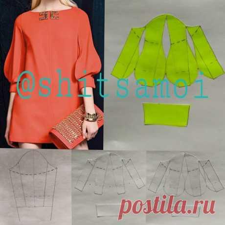 Моделирование рукава #рукав #моделирование #конструированиеодежды #модныйкрой