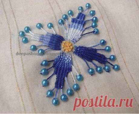 UNUSUAL EMBROIDERY WITH BEADS