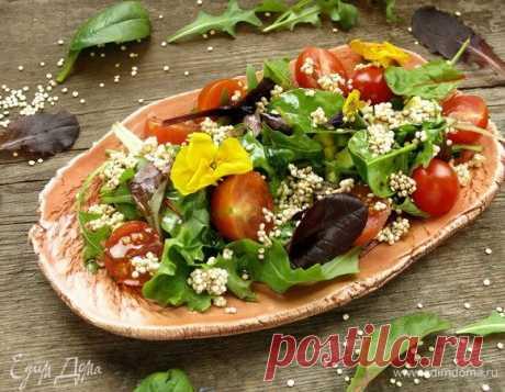Печать рецепта Салат с киноа и авокадо