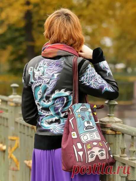Переделка старой кожаной куртки — мастер класс по росписи акриловыми красками - С миру по нитке - медиаплатформа МирТесен
