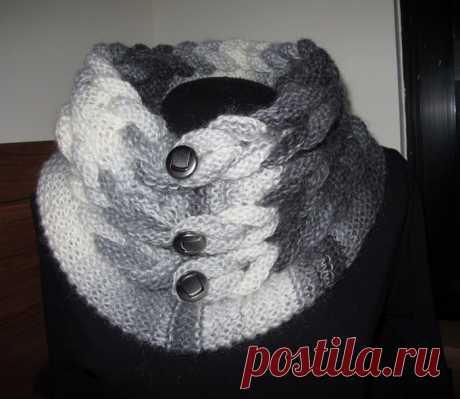 Scarf collar from Joana. Masterklass
