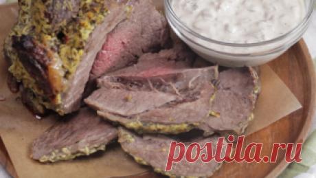 Нежная говядина, запеченная в рукаве, с грибным соусом: видео и фоторецепт. | Fresh Recipes | Яндекс Дзен