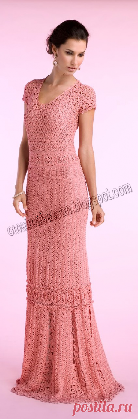crochet kingdom (E.H): femininity long crochet dress !