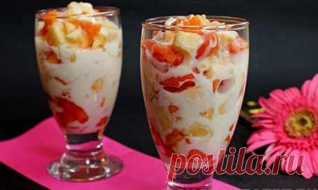 Салат фруктовый с орехами и мороженным Салат фруктовый с орехами и мороженным - пошаговый кулинарный рецепт приготовления с фото, шаг за шагом.