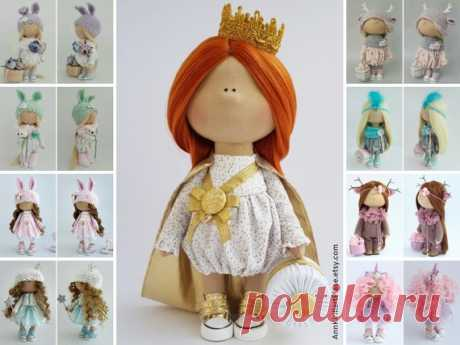 Princess Doll, Queen Doll, Rag Doll, Fabric Doll, Decor Doll, Interior Doll, Nursery Doll Handmade Doll Gold Soft Doll Tilda Doll by Irina B Hello, dear visitors!  This is handmade cloth doll created by Master Irina B. (Kiev, Ukraine). Doll is 28 cm (11.02 inch) tall and made of only quality materials. All dolls stated on the photo are mady by Irina B. You can find them in our shop searching by artist name: