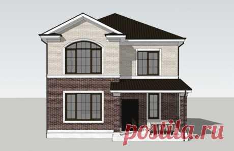 Проект двухэтажного дома 130 м2 Новация 209