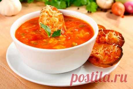 Испанский томатный суп с гренками – пошаговый рецепт с фото.