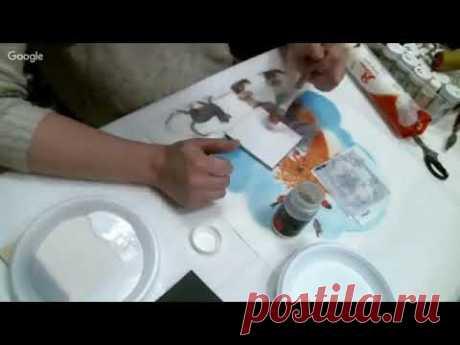 Аля Ашмарина  Подставка для вина имитация керамической плитки