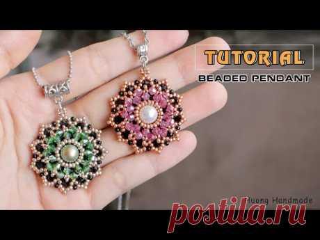 Stunning beaded pendant or earrings DIY