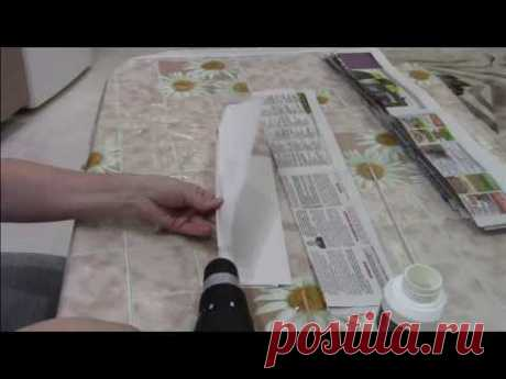 Быстрое скручивание бумажных трубочек ШУРОПОВЕРТОМ-ДРЕЛЬЮ.
